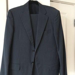 Pal Zileri dark navy striped suit